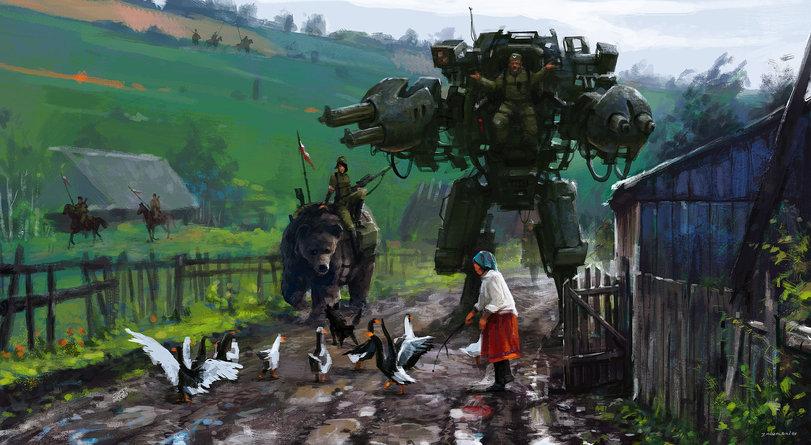 красивые-картинки-Steampunk-Jakub-Rozalski-Dieselpunk-1780489
