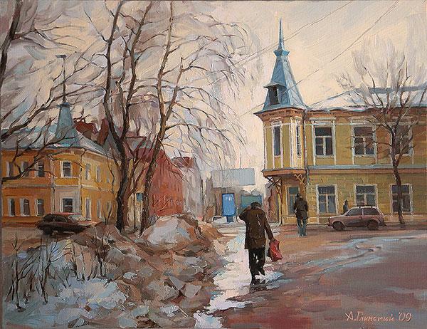 Самарский городской пейзаж. Межсезонье