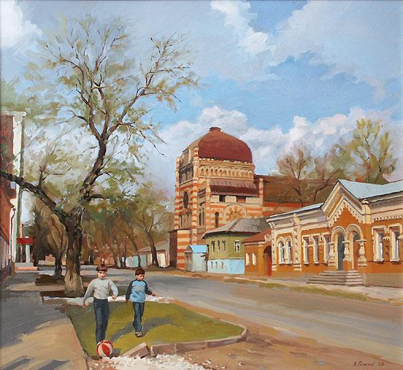 Самарский городской пейзаж. Весна в городе