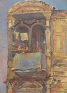 Антон Горяинов. Житель улицы Шаумяна (Дмитровской). 50х70 пастель 2009