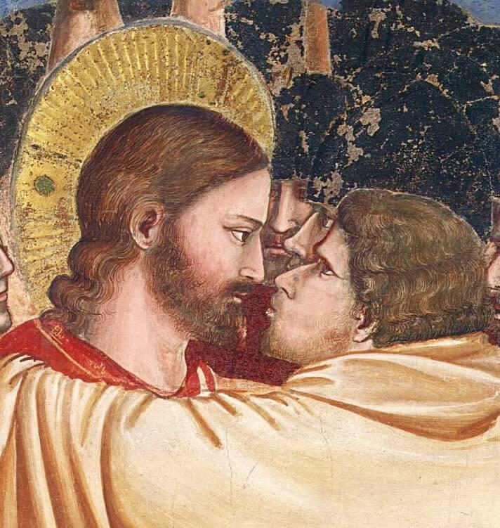 """Джотто (Италия) – """"Поцелуй Иуды"""", 1305 г. (пред-Ренессанс – «Триченто»)"""