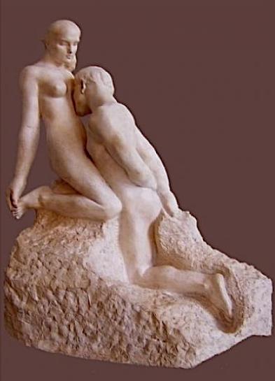"""Огюст Роден (Франция) — """"Вечный идол"""", 1899 г."""