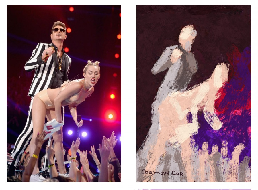 Miley Cyrus's risque performance at the MTV VMAs