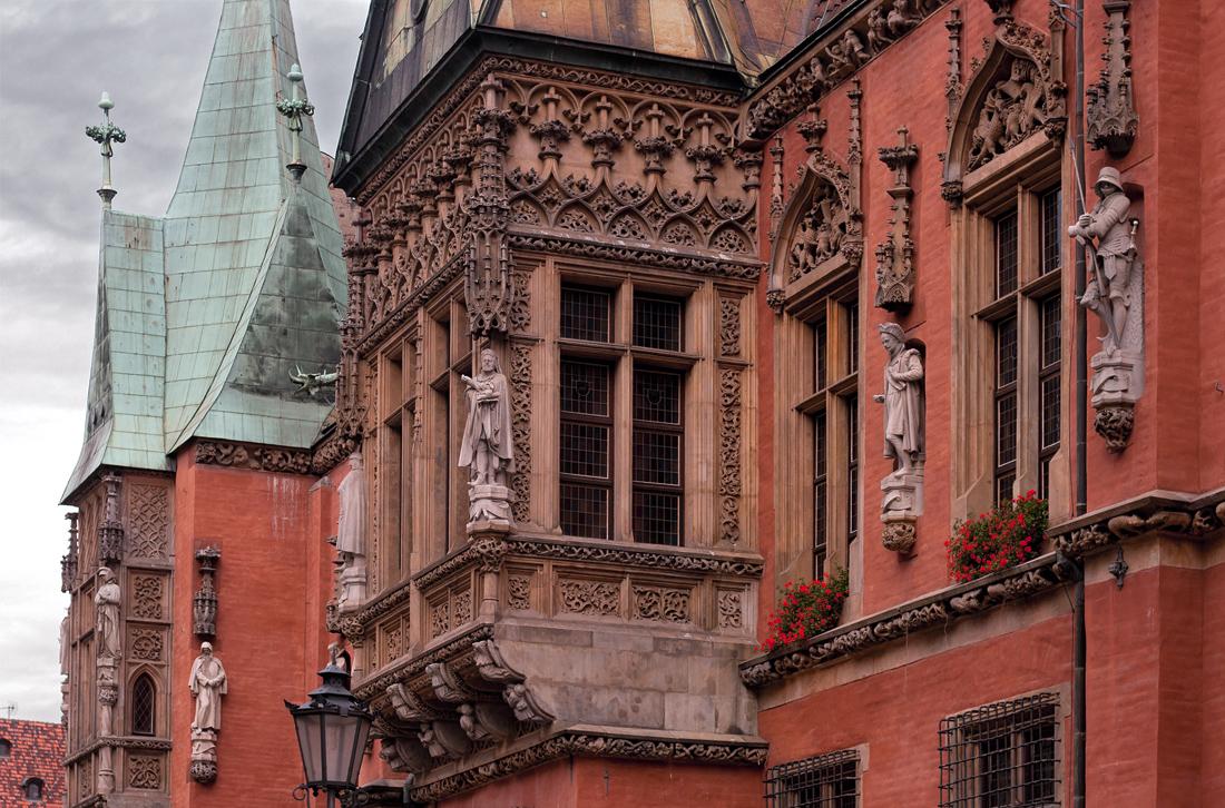 Вроцлав, декоративные элементы городской ратуши