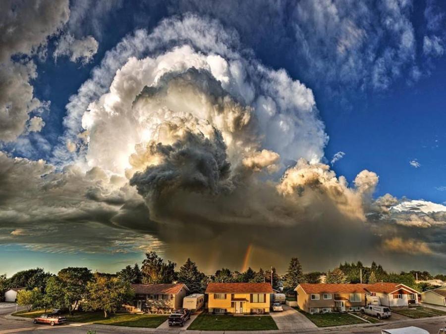 Невероятно красивый шторм в Аризоне, США
