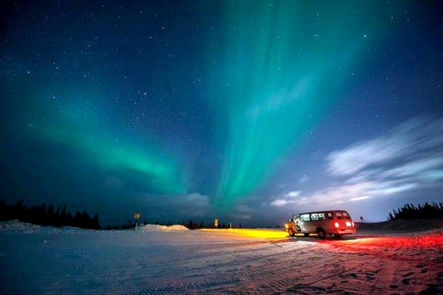 Северное сияние Аврора, Аляска.