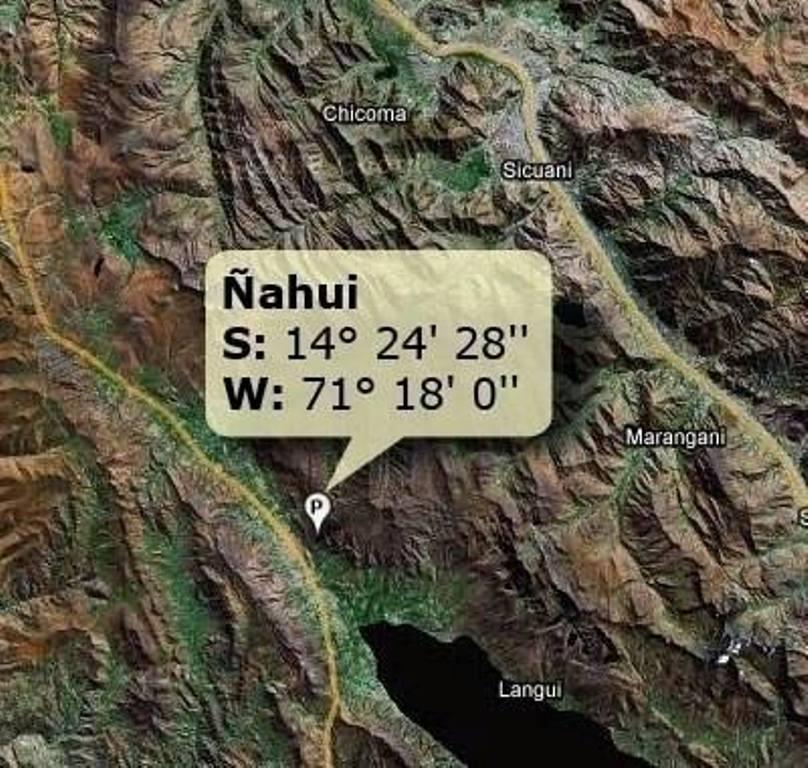 Населенный пункт Nahui (Перу)