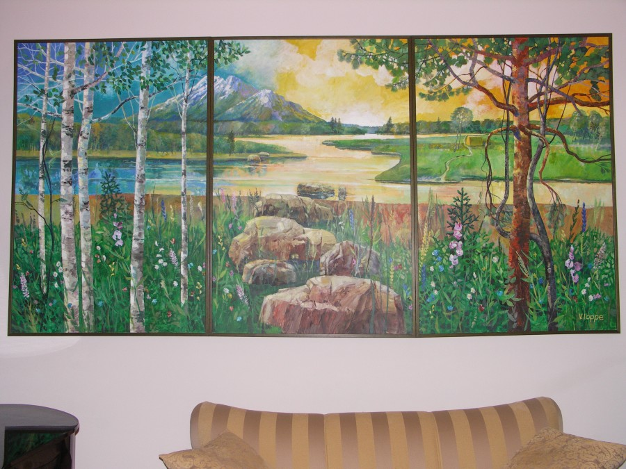 Landscape in the piano room 2