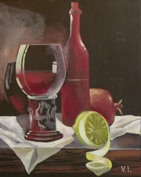 The Fresh Lemon 16x20 Oil