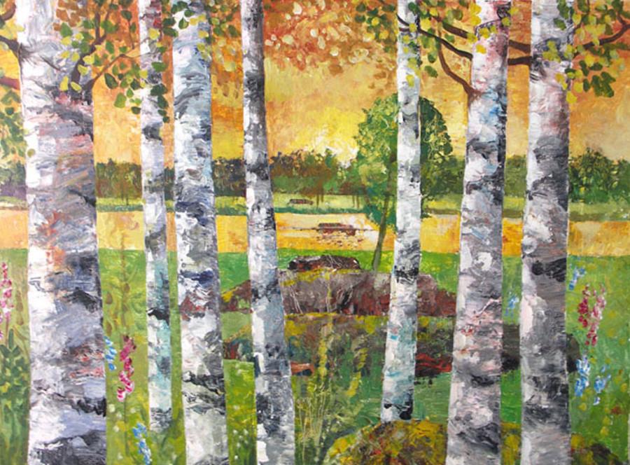birches autumn