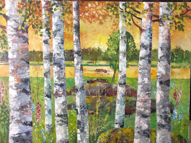The Song of the Golden River 52x32 Acrylic Canvas 2006