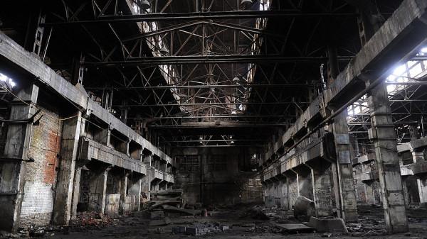 Завод в разрухе