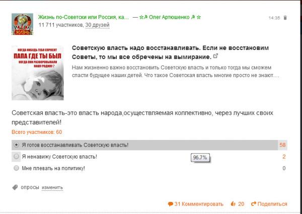 Анализ.Советская власть.Жизнь по-Советский