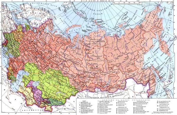 СССР карта