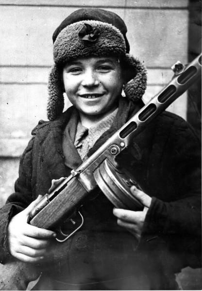 Юный партизан-разведчик Толя Гороховский. 1943 г.