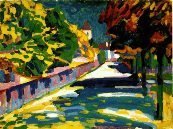 Kandinsky, Autumn in Bavaria, 1904, Oil on Cardboard