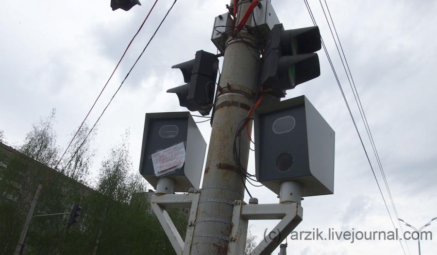 Бумажкой заклеили камеру ГИБДД в Ижевске