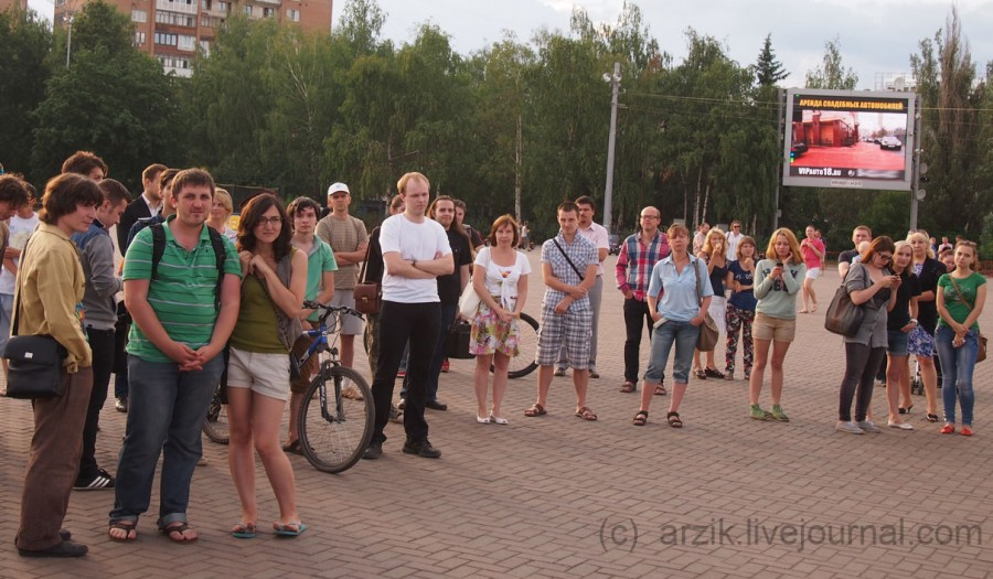 Акция в поддержку Навального в Ижевске