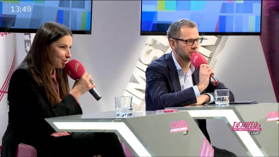 Интервью Натальи Синдеевой и Александра Винокурова на tvrain.ru