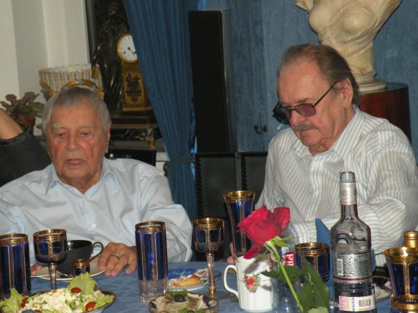 Юрий Любимов и Юрий Яковлев дома  у Людмилы Максаковой (фото - Асаф Фараджев)