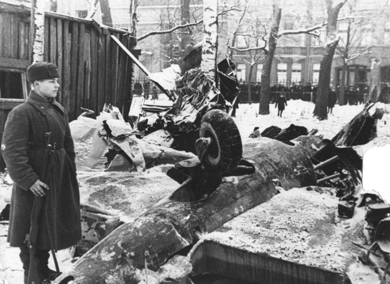 Сбитый самолет в Таврическом саду
