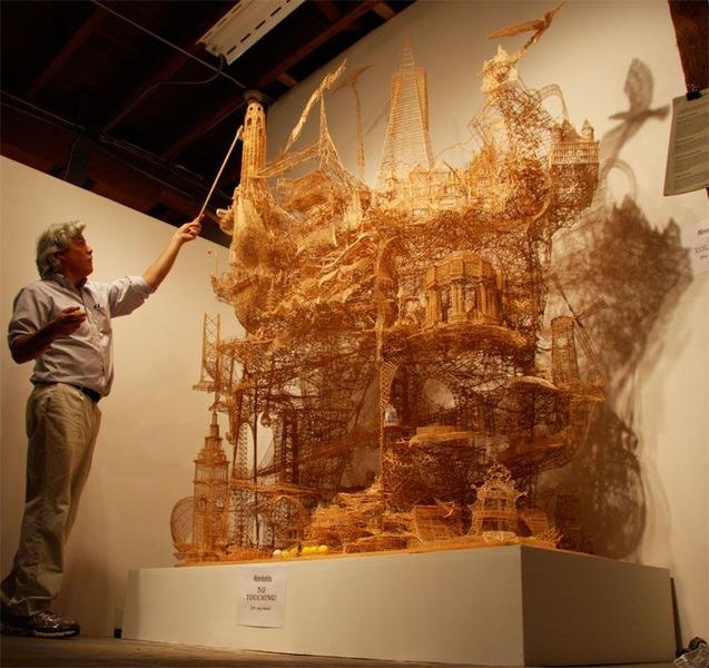 скульптуры из зубочисток