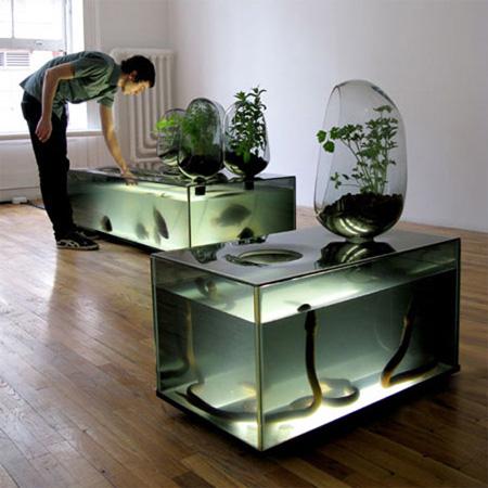 Самые необычные и креативные техно-аквариумы