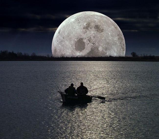 рыбалка фотография красота луна природа