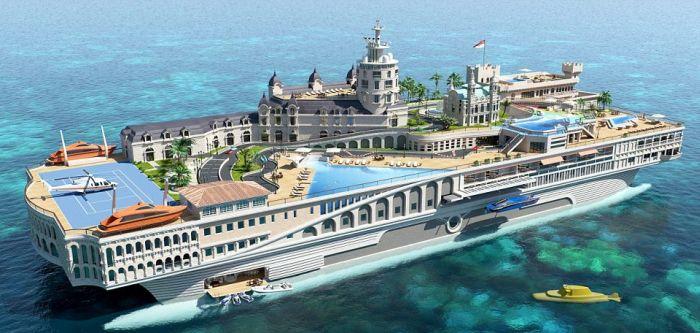 яхта монако улицы креатив дорого дизайн