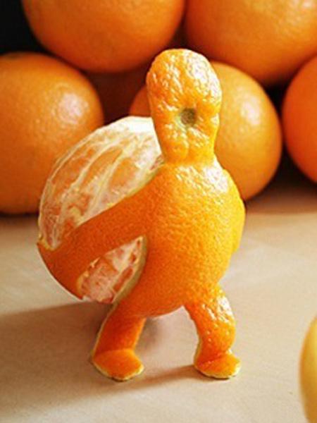 Прикольные картинки апельсин