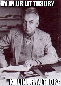 "Roland Barthes: ""Im in ur lit th3ory, killin ur authorz"""