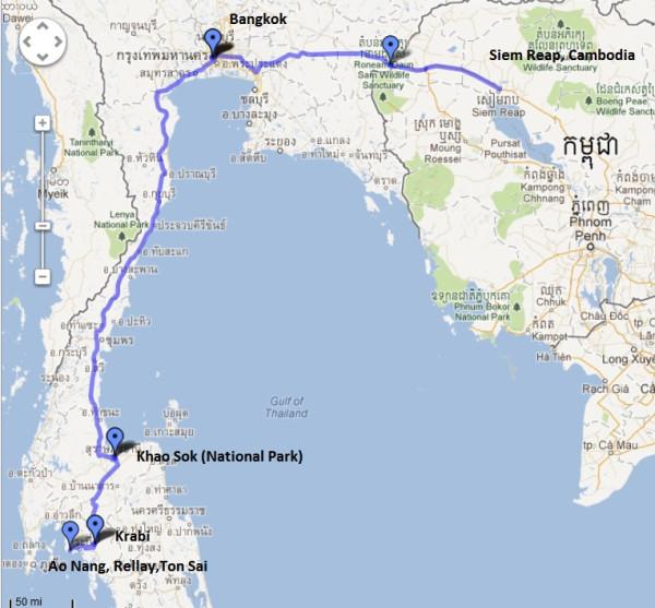 Таиланд+Камбоджа_карта