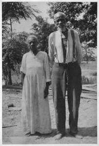Sarah and Tom or Sam Douglas ex-slaves