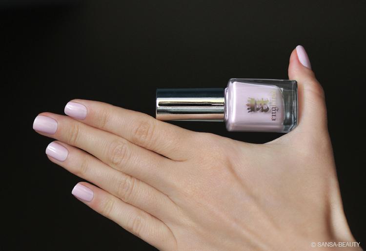 Ногти розовый с серебристым 36