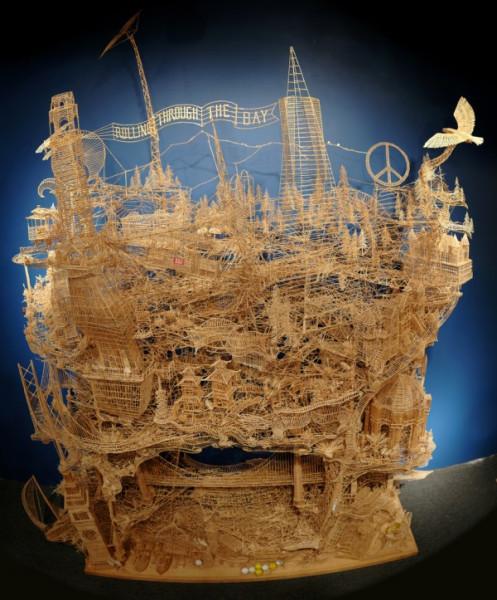 Toothpick-sculpture