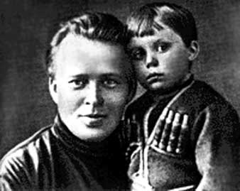 Гайдар с сыном Тимуром