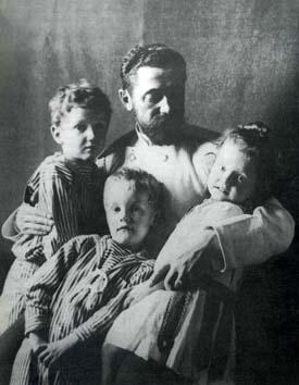 Л.Д. Вяземский с детьми