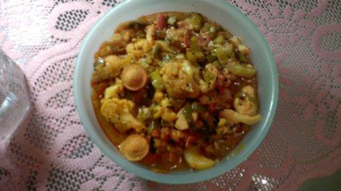 Сосисочно-овощная каша