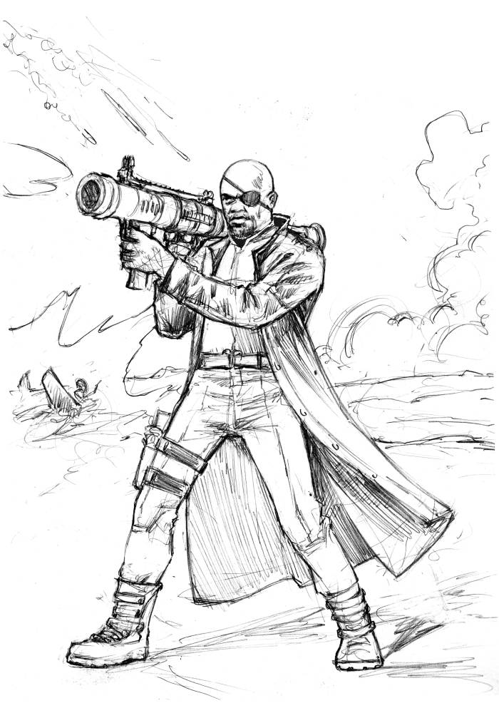 Nick Fury Free Coloring Pages Fury Coloring Page