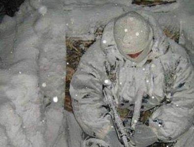 Солдат ВСУ в условиях серьезной зимы