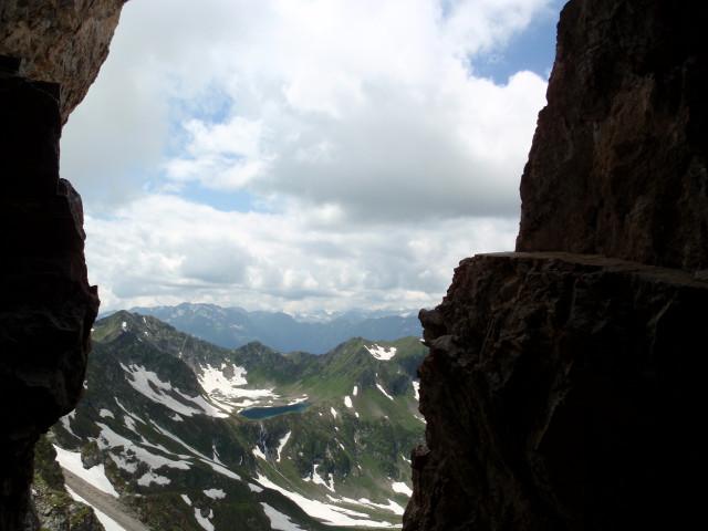 Вид из грота в Скале Орлов на Двухозерье.