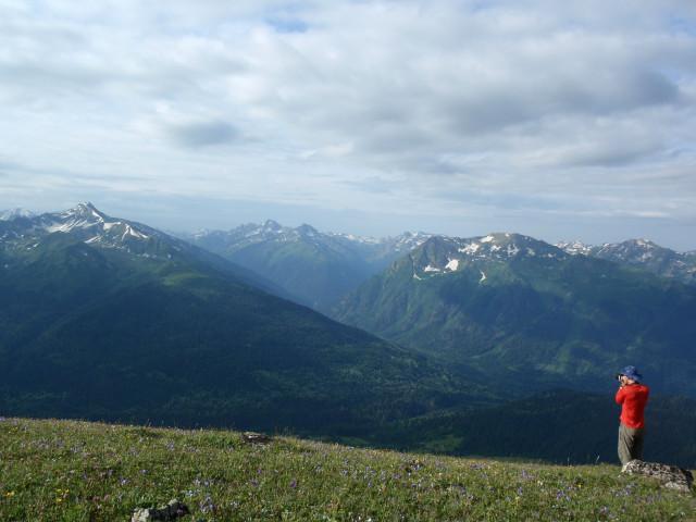 Вид с Загеданского хребта на долину Б.Лабы и ее притоков.