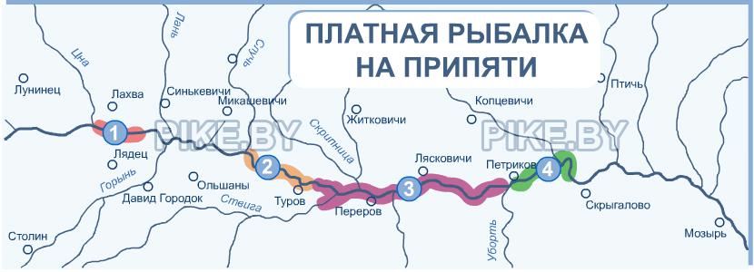 рыболовные места беларуси карта