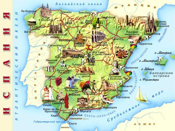 испания карта