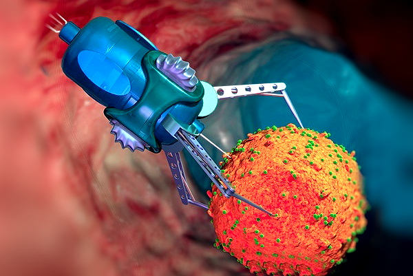 T395190-Nanorobot_treating_infected_cell-SPL