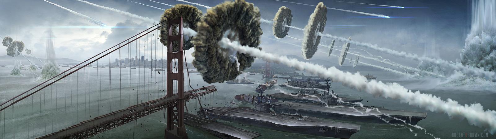 1600x451_5214_Battle_SF_2d_sci_fi_city_alien_invasion_conept_art_picture_image_digital_art