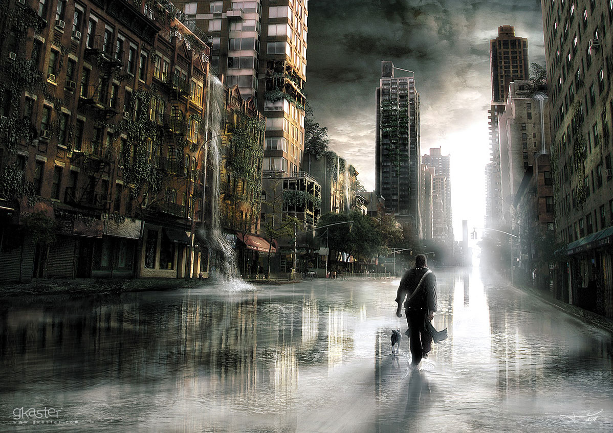 1198x847_4133_Urban_2d_sci_fi_city_dog_flood_nature_man_picture_image_digital_art