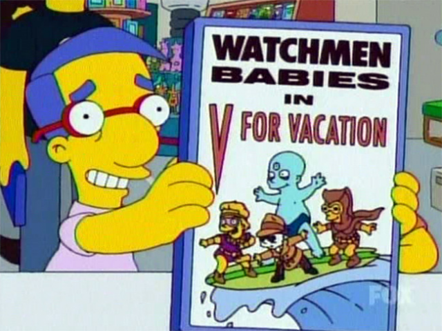 Watchmen Babies in DIAL V for VACATION