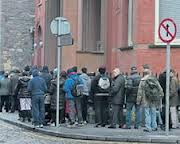 queues for food in Dublin