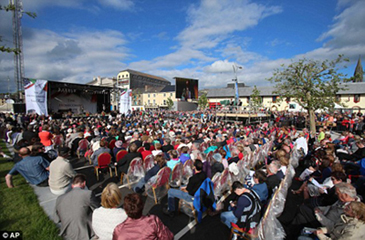 Thousands turn out to celebrate the occasion.